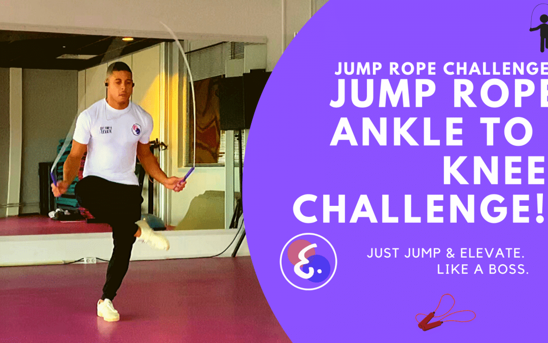 Jump Rope Ankle to Knee Challenge! Jump Rope Challenges #ElevateChallenges