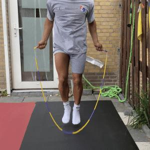 Jump Rope Mat Black