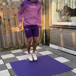 portable jump rope mat