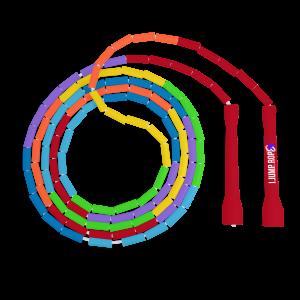Rainbow beaded jump rope