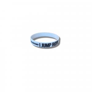 I jump rope wristband white